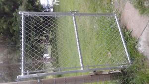Steel chain link heavy duty gates
