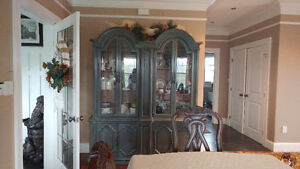 Large solid wood hutch