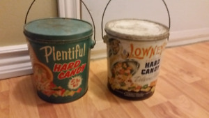 A pair of vintage candy tins $60