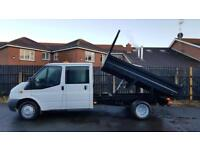 JULY 2013 FORD TRANSIT T350 STEEL DROP SIDE TIPPER FACTORY DOUBLE CREW CAB..