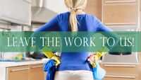 Let us clean your stresses away - Cleaning services!