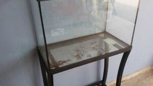 Fish tank and stand.