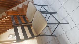 X2 Black steel pub style chairs