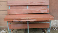 Heavy duty deck bench