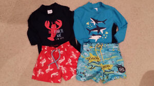 BOYS Swimsuits 9-18 mos