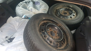 Winter Snow Tires and Rims x4 ( 205/60R16 )