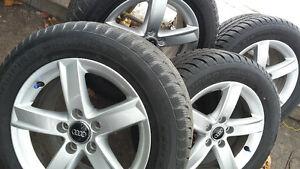 4 mags original AUDI A4 avec 4 pneus hiver neuf