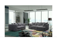 Great value corner sofa or 3+2 leather and fabric grey , black , beige delivery available