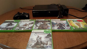 XBOX 360 4G + 6 GAMES FOR SALE