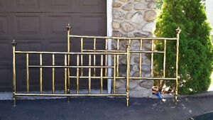 King Size brass plated head & foot boards $180.00 negotiable