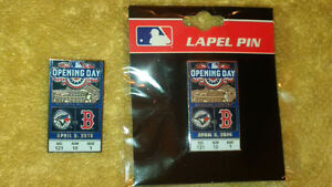 MLB Blue Jays Red Sox 2016 Opening Day baseball Pin + Bobblehead