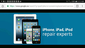 Screen replacement service for Apple / other manufacturers