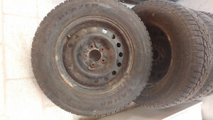 225/70R16/winter tires with steel rims