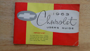 1963 Chevrolet full size Owners Manual