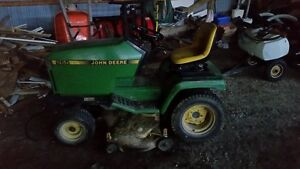 265 John Deere Rider 42 inch with rototiller attachment