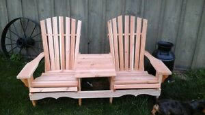 new cedar and pine muskoka chairs with the dutch touch sale $99