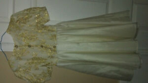 Girls Satin Special Occasion Fancy Dress approx size 10