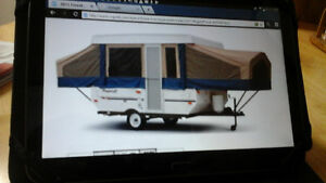 2011,forest river flagstaff hardtop camper model 208
