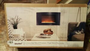 Paramount Barcelona Wall Mount Electric Fireplace!