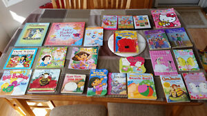 Assorted children's books and dvds. Girls books.