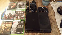 Xbox 360 Slim Arcade with 500gb harddrive, games, and controller