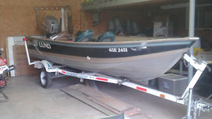 16 foot Lund fishing boat with 40 hp