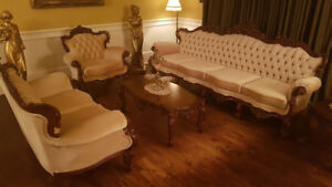 SET DE SALON 5 MORCEAUX ANTIQUE BAROQUE VICTORIEN LOUIS 15