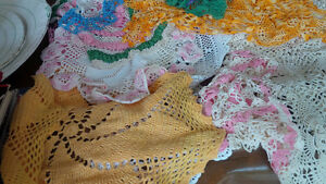 Vintage Colourful Doilies + One Tablecloth Kitchener / Waterloo Kitchener Area image 3