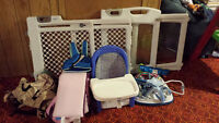 Assorted Baby/Toddler Items, stroller, snuggly, gates etc...