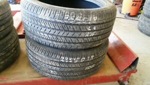 Pair of 2 Bridgestone Dueler HL400 (run-flat) 235/50R18 tires (6