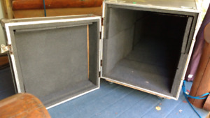2 Band Equipment Roadie Shipping Crates