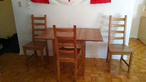IKEA WOOD - Dining Set (drop-leaflets) - MUST GO NOW