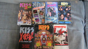Kiss videos(6)VHS, also 1 Kiss Movie(VHS)