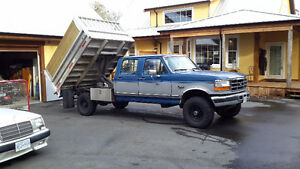 1994 Ford F-350 turbo diesel dumper body truck is in vic bc