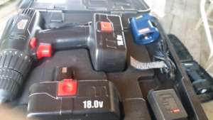 Jobmate 18.5 Cordless Drill with spare battery.
