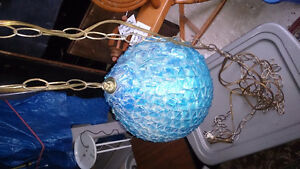 Blue retro hanging lamp