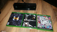 Xbox one kienct and 3 games