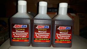 3x Amsoil 75w-90 manual transmission oil