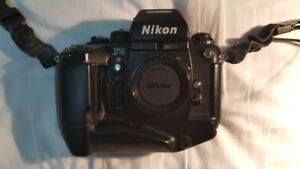 Nikon f4s,motordrive,lens, flash,amateur use like new