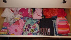 300 vêtements bébé fille 6 mois à 24 mois toutes saisons