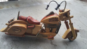 Wood Harley Davidson Model Motorcycle