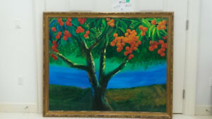 Large Apple Tree Oil Painting