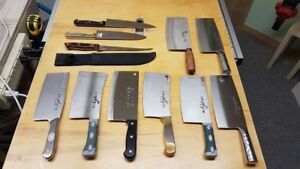 Selling off my kitchen knife cleaver collection