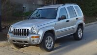 2004 JEEP LIBERTY LIMITED VUS 4x4 TRES PROPRE 54000KMS SEULEMENT
