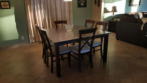 Cherry wood dining set with 6 chairs Windsor Region Ontario image 1