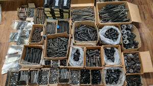 HUGE LOT OF BOLTS/NUTS/WASHERS -  OVER $4000 WORTH