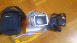 Canon g10 with underwater housing