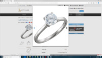 14K White 1 CTW Diamond Solitaire Engagement Ring NO TAX