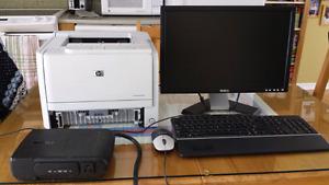 Imprimante laser, Écran, Clavier, Souris