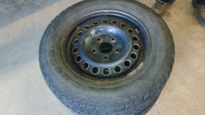 Goodyear snow and ice  Tires and rims  215/65/R16  SET OF 4